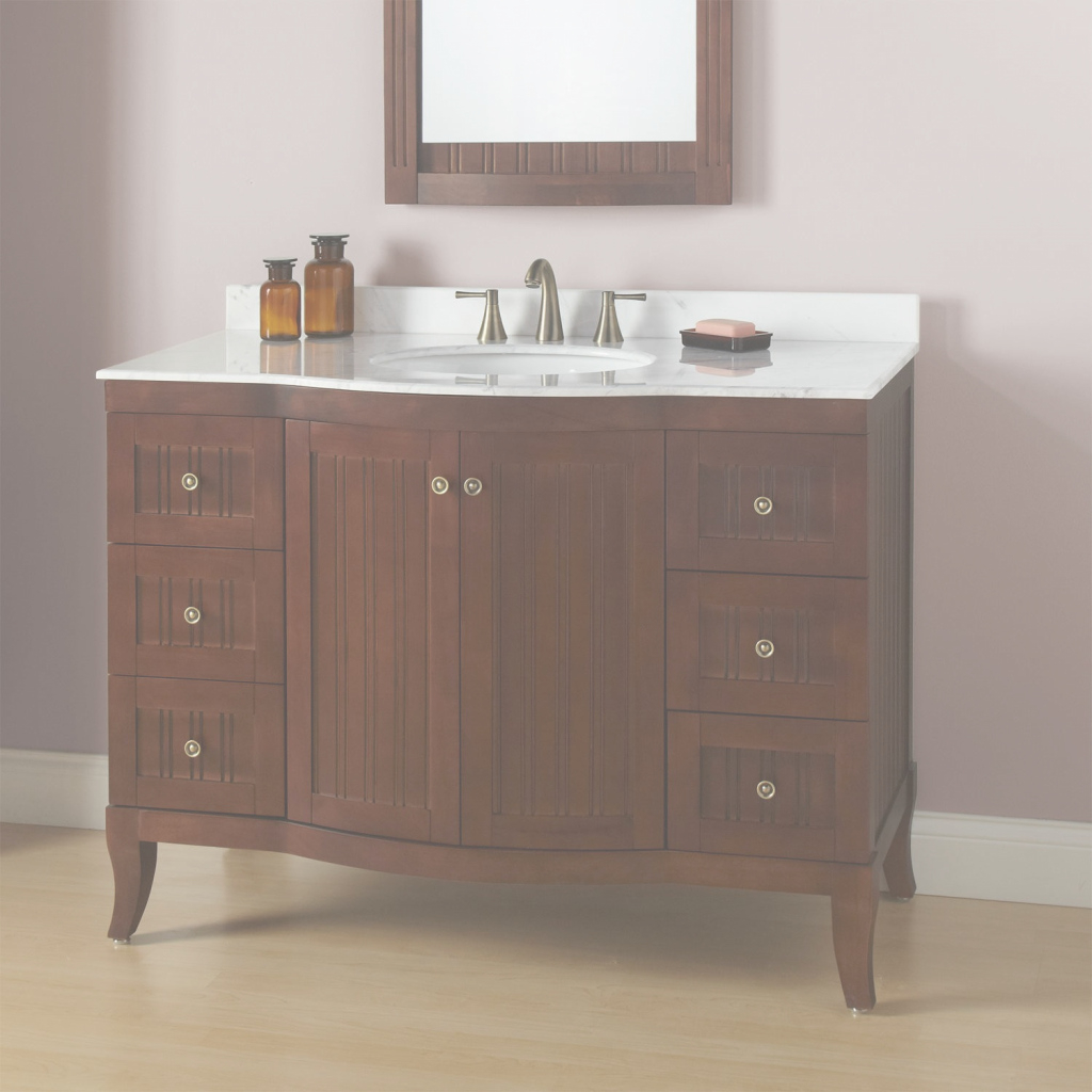 Glamorous Photos: 48 Inch Bathroom Vanity With Top, - Longfabu pertaining to 48 Inch Bathroom Vanity With Top