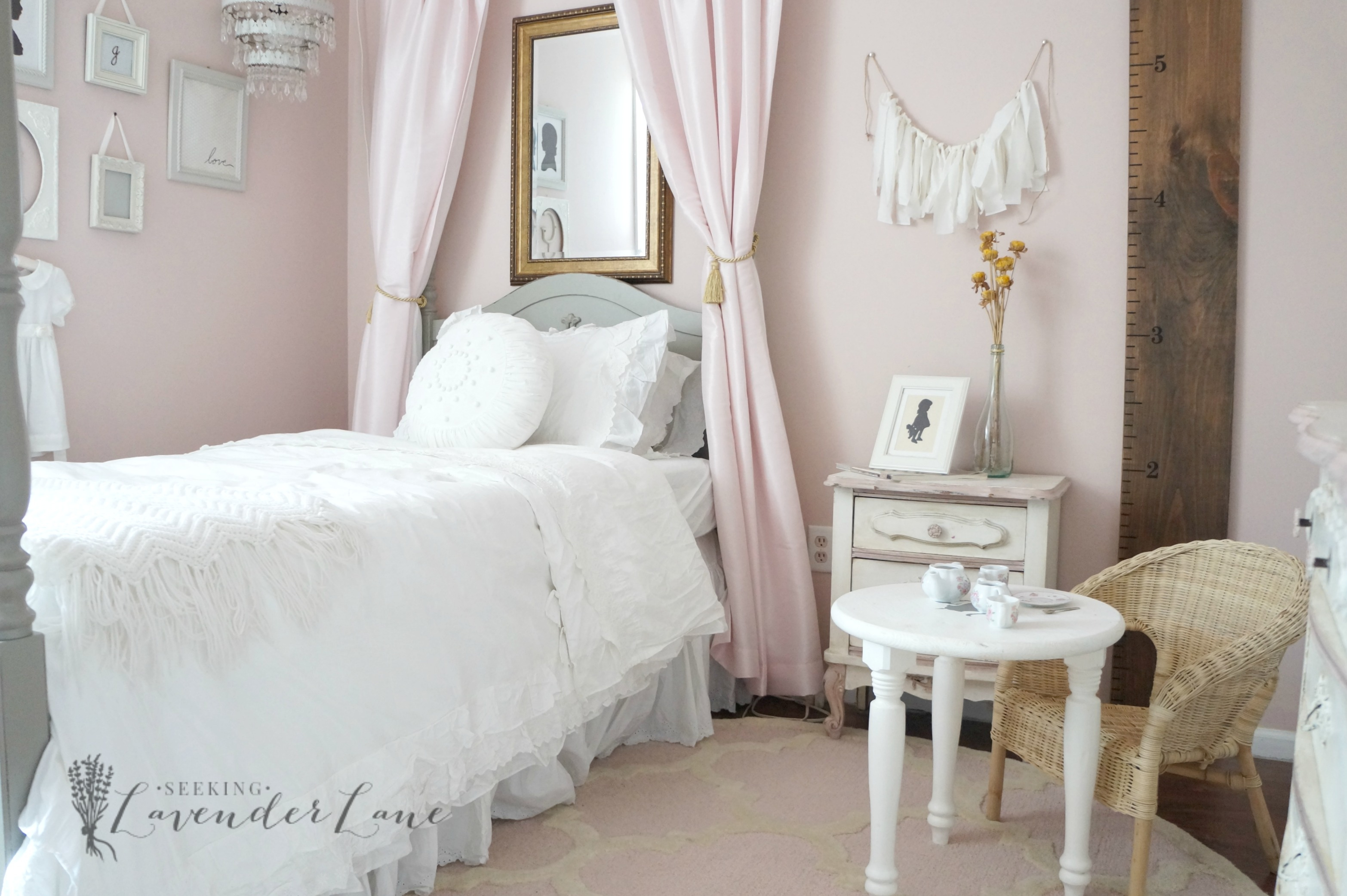 Glamorous Pink Vintage Girl's Bedroom - Seeking Lavendar Lane regarding Vintage Bedroom
