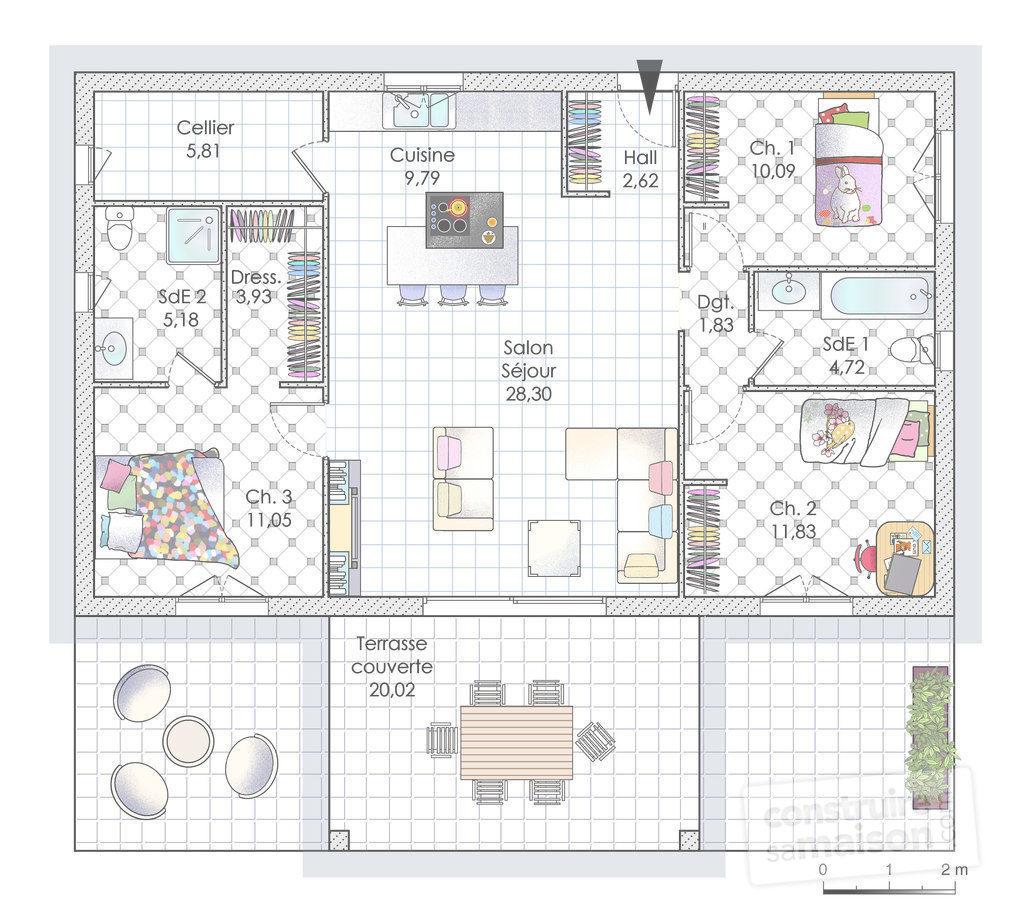 Glamorous Plan De Maison Moderne | Ctpaz Solutions À La Maison (15-Aug-18 23 in Best of Plan De Maison