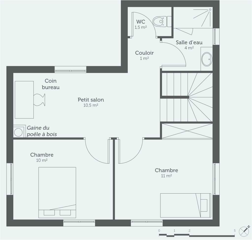 Glamorous Plan Maison 1 Chambre 1 Salon Plan De Chambre Luxe Plans De Maison pertaining to Best of Plan De Maison