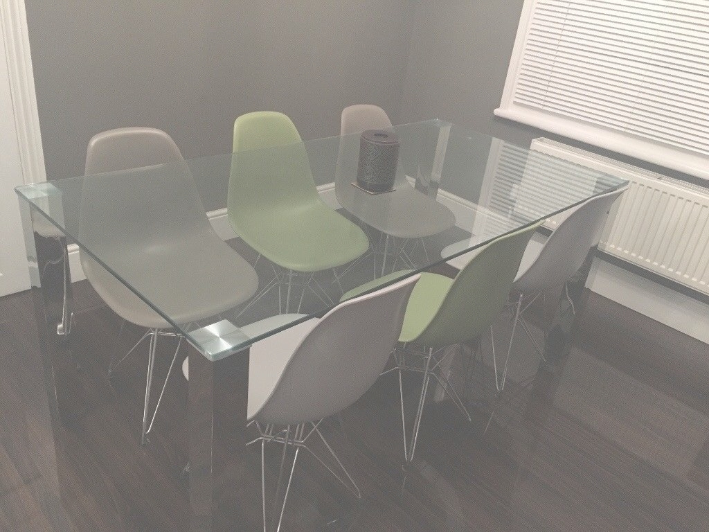 Glamorous Posh Chrome And Glass Dining Table In Northampton - Coma Frique intended for The Dining Room Northampton