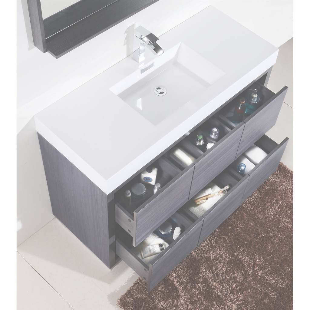 Glamorous Shop Kubebath Bliss 59-Inch Single Sink Bathroom Vanity - Free with 59 Inch Bathroom Vanity