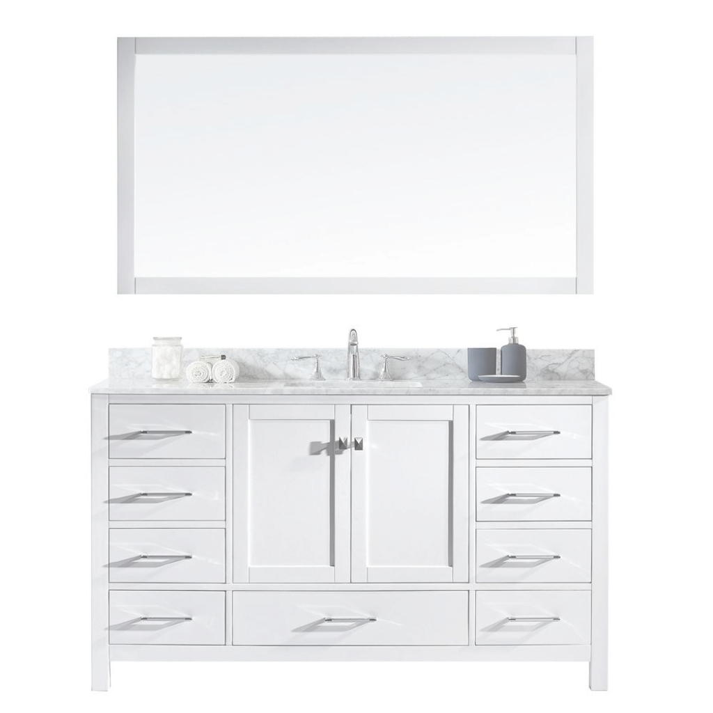 Glamorous Single Sink - 60 Inch Vanities - Bathroom Vanities - Bath - The Home regarding Luxury 60 Inch Single Sink Bathroom Vanity