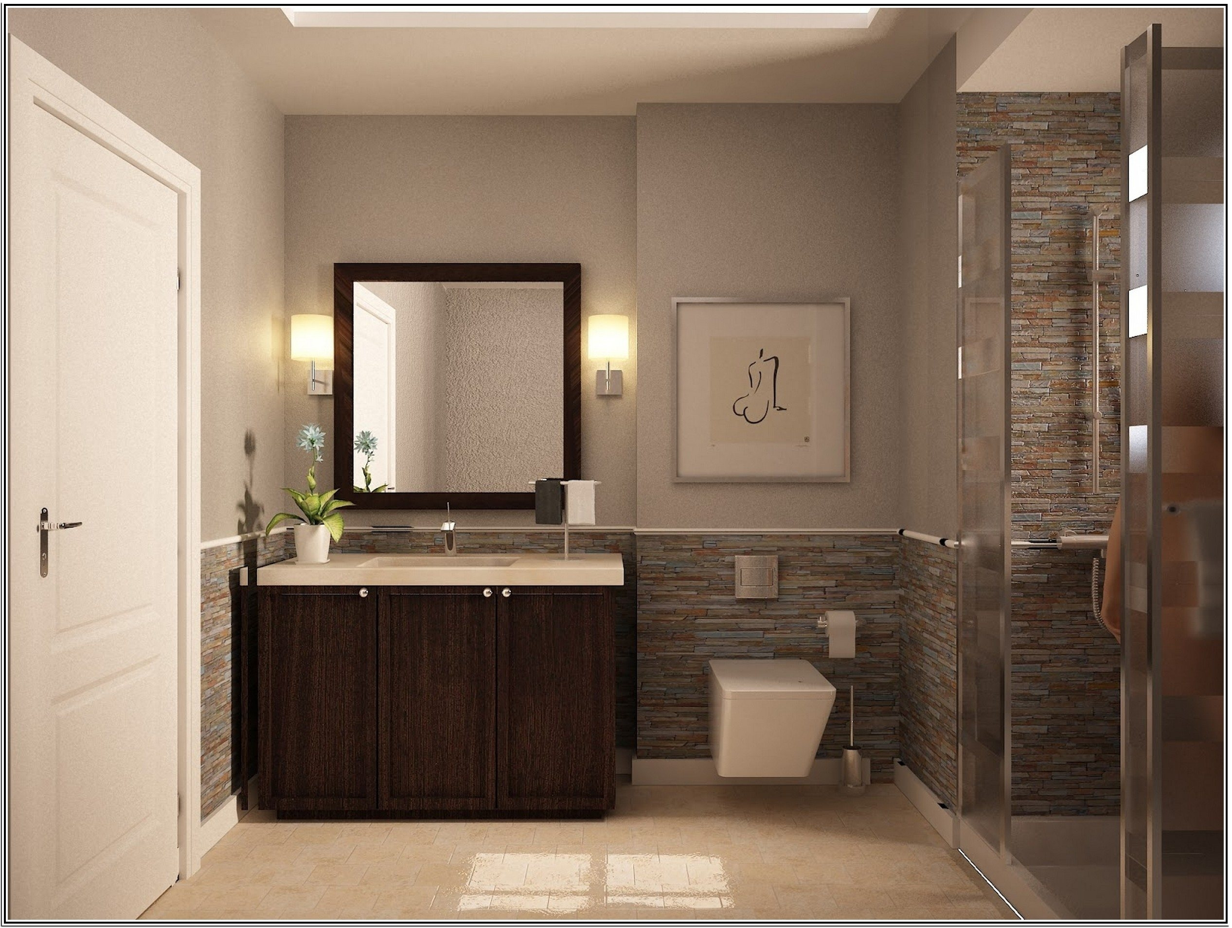 Glamorous Small Bathroom : Elegant Small Bathroom Paint Color Ideas Dark throughout New Small Bathroom Paint Ideas