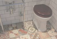 Glamorous Small Bathroom Flooring Ideas With Mixed Antique Tiles – Hupehome within Good quality Cheap Bathroom Flooring