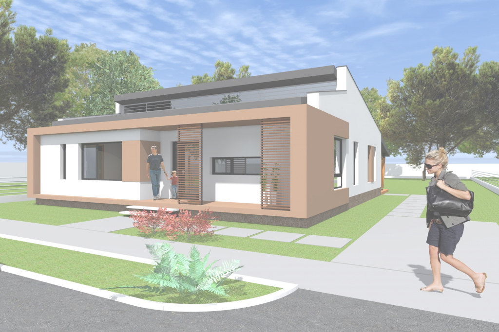 Glamorous Small Modern Bungalow House Design. 133 Square Meters (1431 Sq Feet intended for Modern Bungalow
