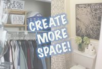 Glamorous Space-Saving Ideas | Closet & Bathroom Makeover – Youtube in Bathroom Space Saver Ideas