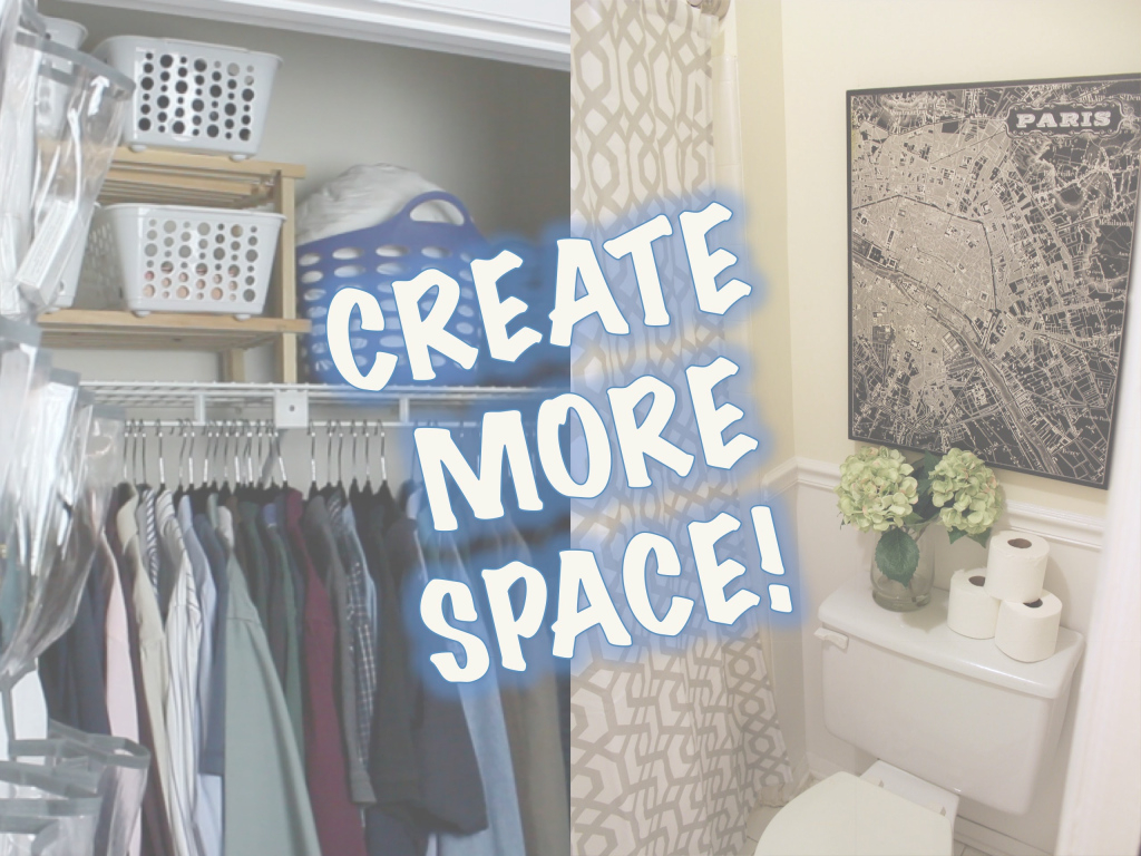 Glamorous Space-Saving Ideas | Closet & Bathroom Makeover - Youtube in Bathroom Space Saver Ideas