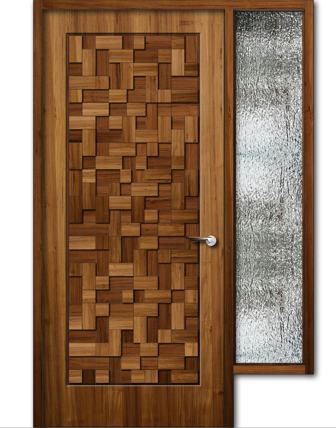 Glamorous Teak Wood Finish Wooden Door With Window, 8Feet Height | Doors pertaining to Best of Door And Window Design Image