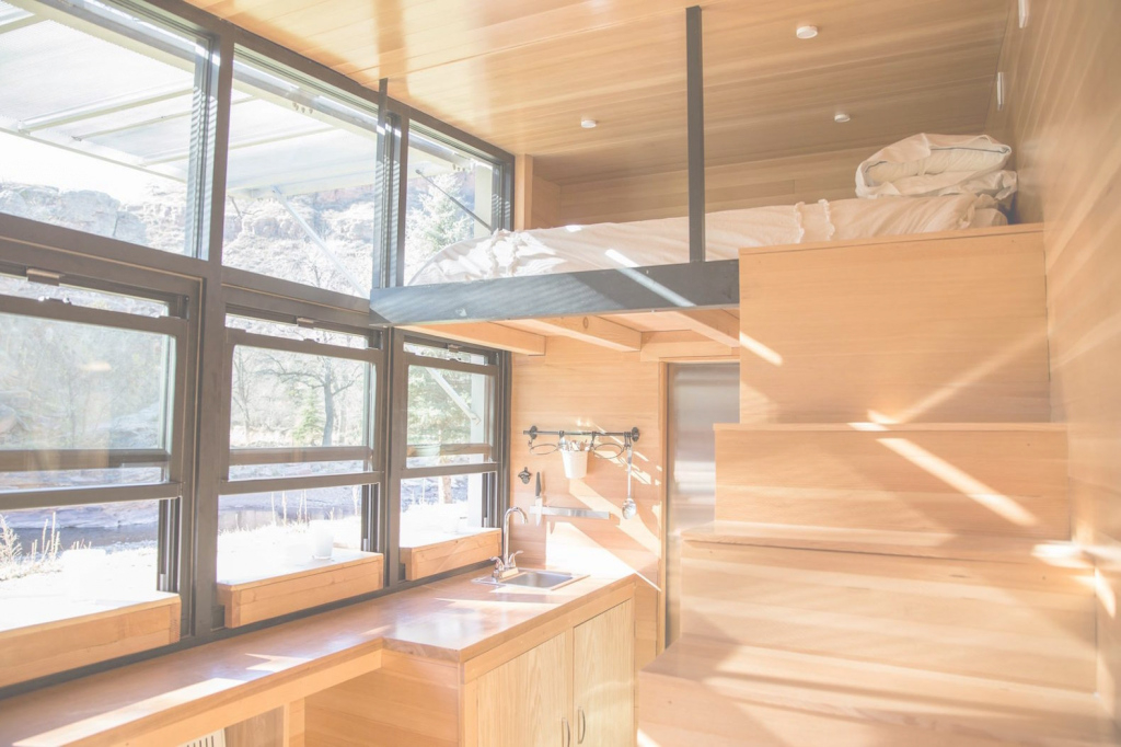Glamorous Tiny Towable Eco-Home Helps You Reconnect With Nature | Inhabitat for Good quality Tiny House Split Level