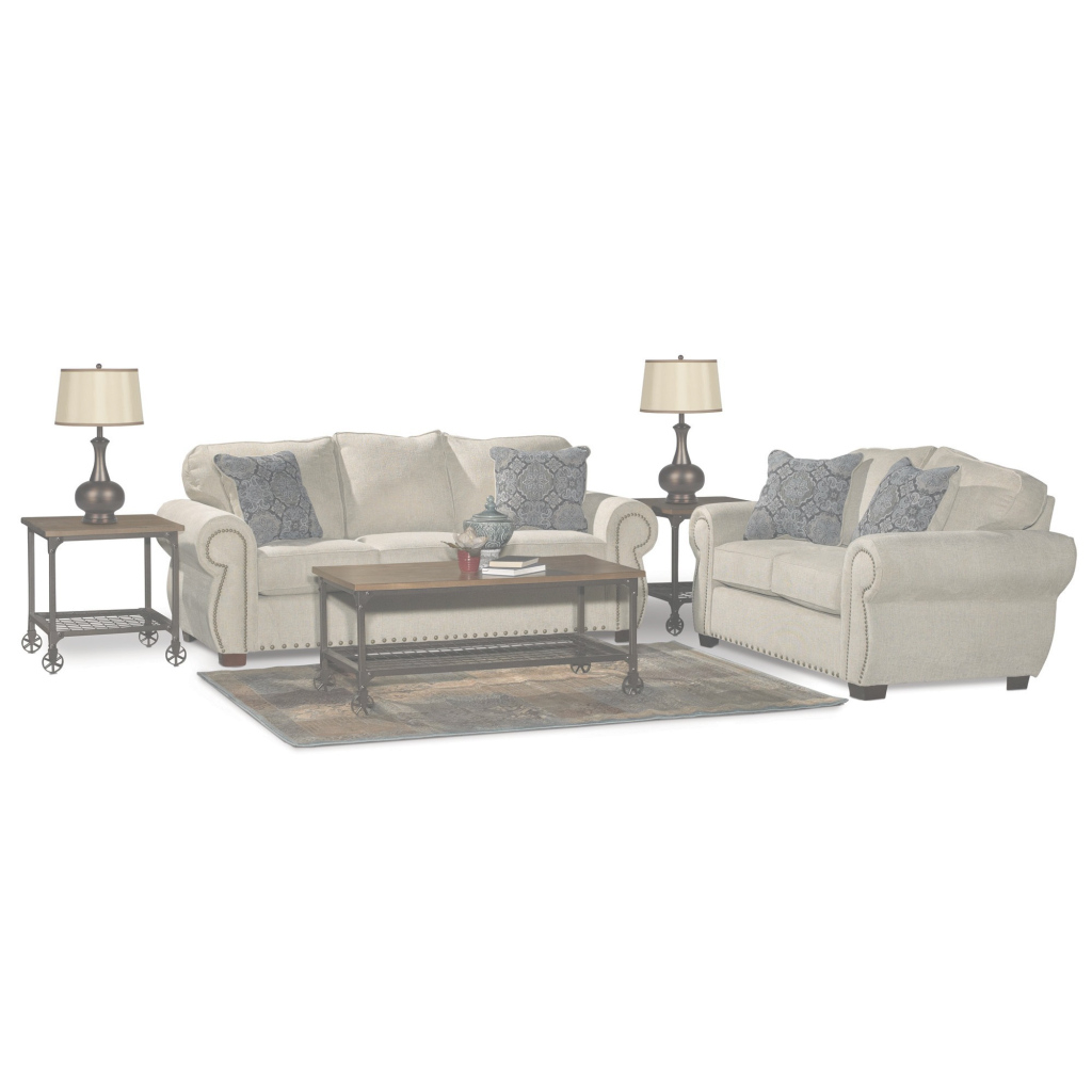Glamorous Traditional Canvas Tan Sofa Bed 7 Piece Living Room Set - Southport inside 7 Piece Living Room Set