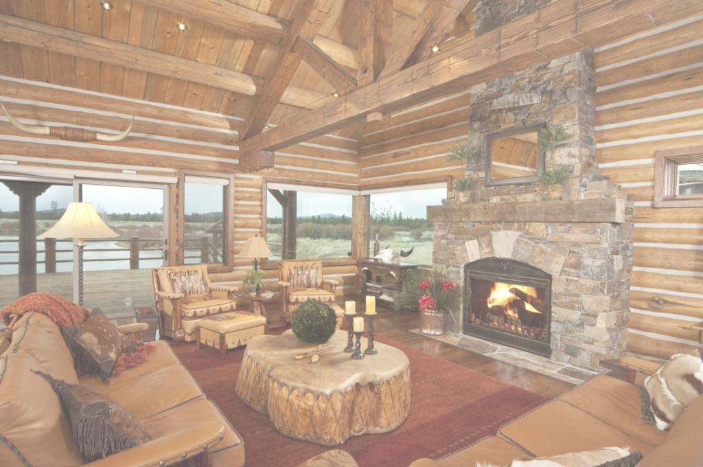 Glamorous Trendy Log Home Decorating Ideas Interesting Design Cabin Living pertaining to Best of Cabin Living Room