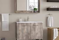 "Glamorous Union Rustic Ellison Nature Wood 36"" Single Bathroom Vanity Set With inside Bathroom Vanity Table"