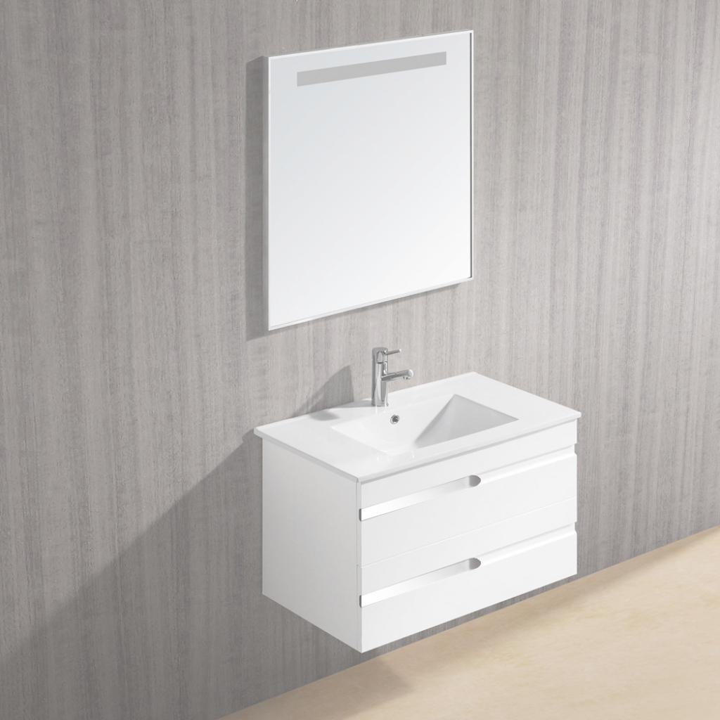 "Glamorous Vigo 32"" Ethereal Petite Single Bathroom Vanity With Mirror, White Gloss with regard to Small White Bathroom Vanity"