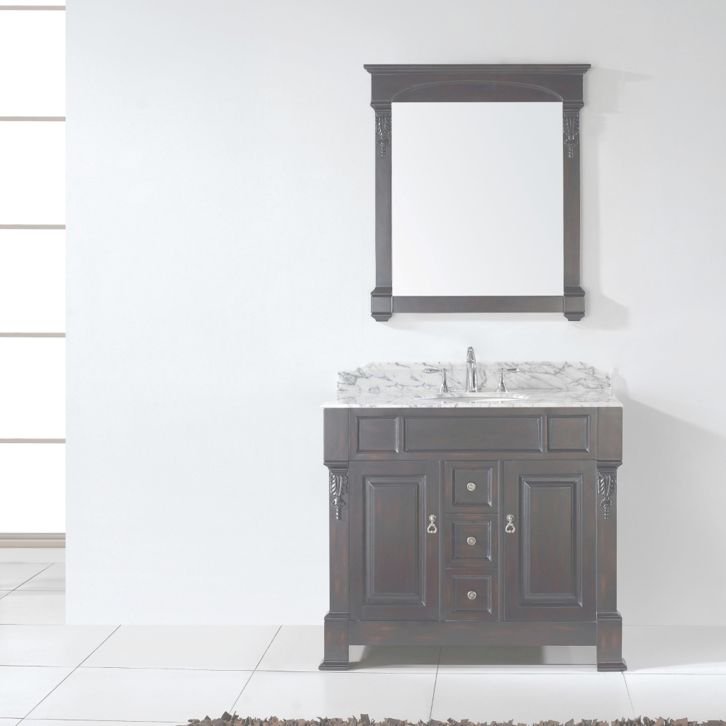 Glamorous Virtu Usa Huntshire 40 Single Bathroom Vanity Set In Dark Walnut throughout 40 Bathroom Vanity