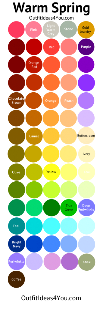 Glamorous Warm Spring Seasonal Color Palette | Pinterest | Warm Spring, Spring with regard to Best of Color Palette Names