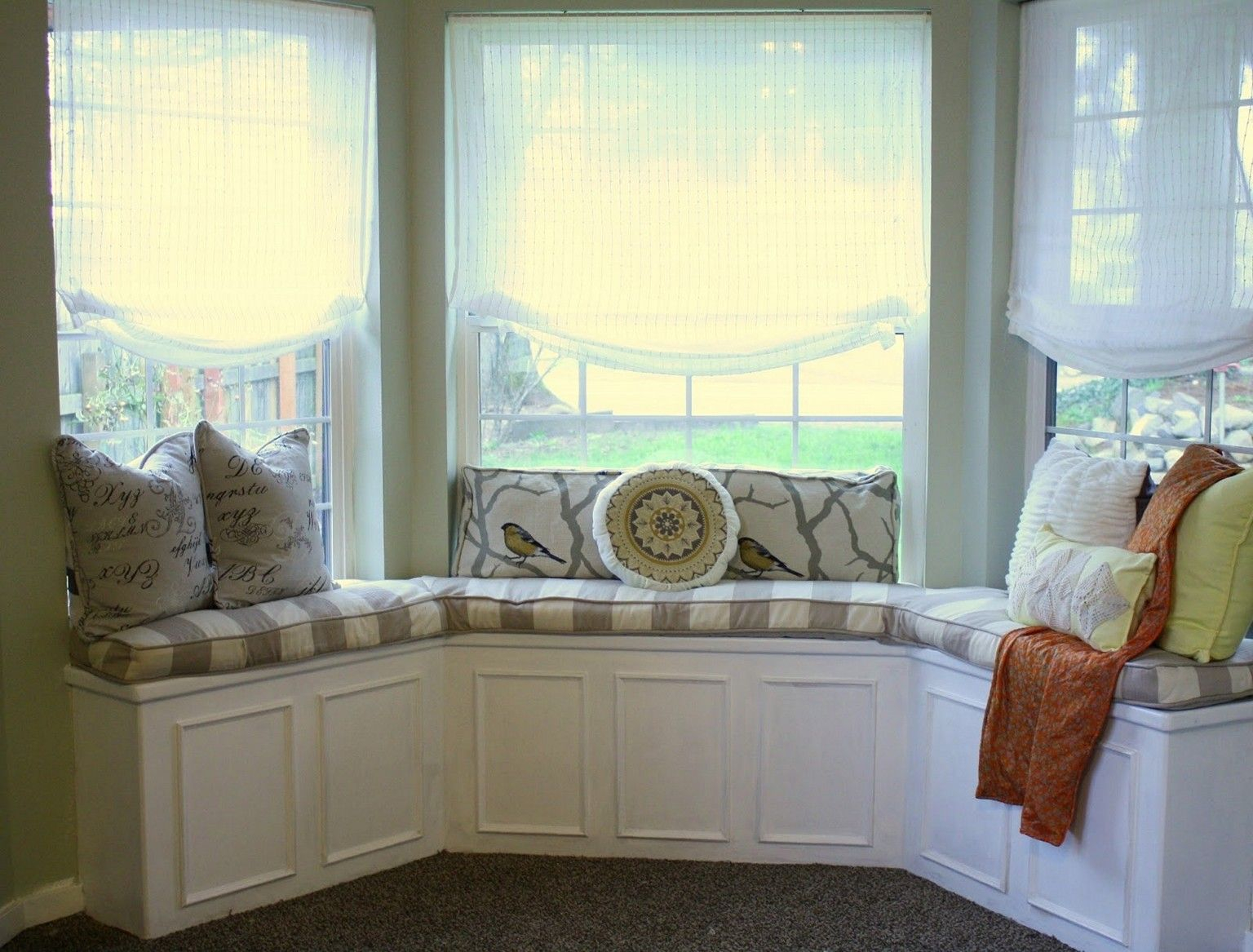 Grand Custom Bay Window Seat