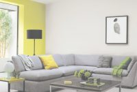 Glamorous Yellow Gray Living Room Scheme With Accent Wall At Magolla throughout Elegant Yellow And Gray Living Room