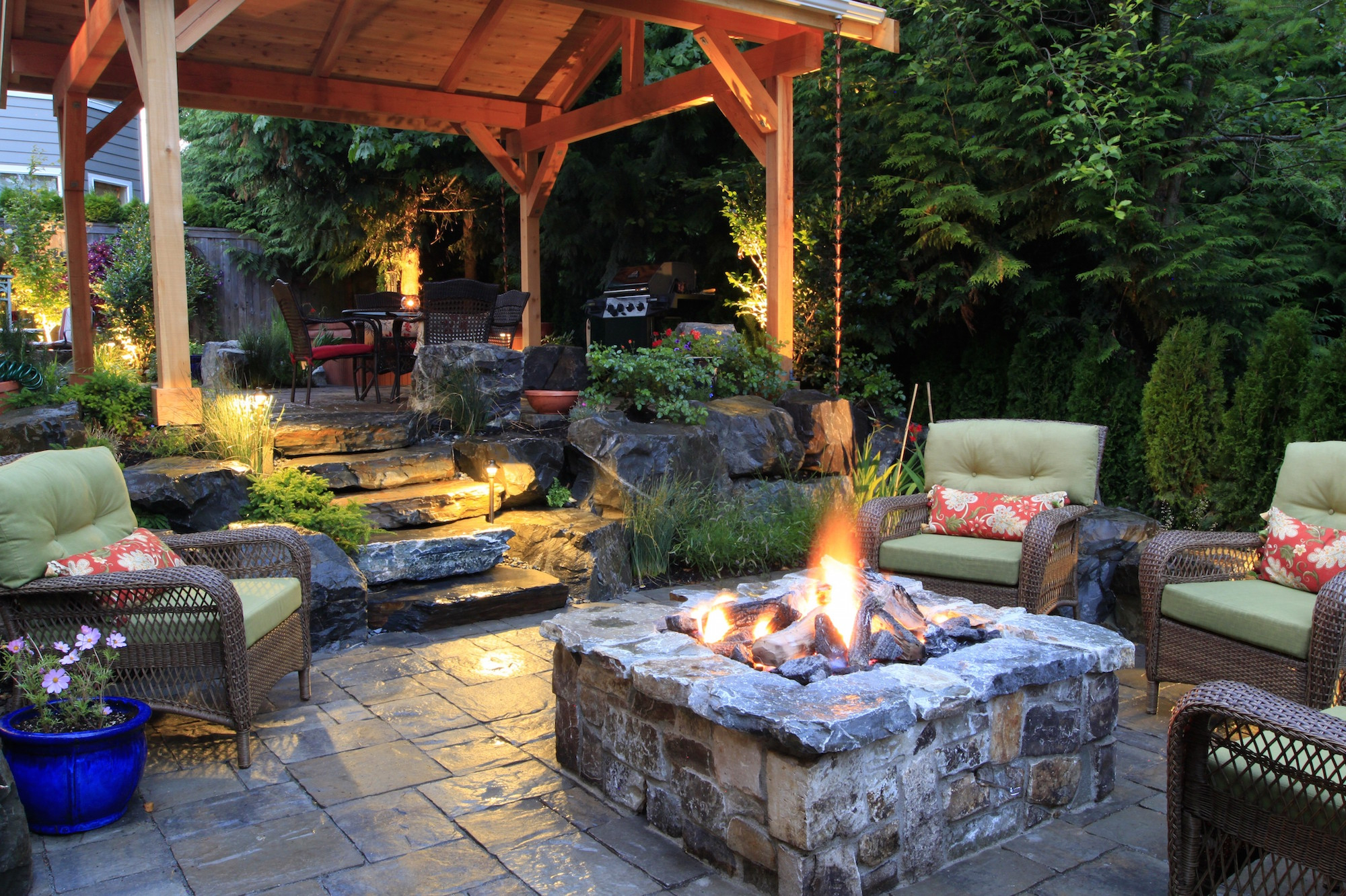 Inspirational 15 Fire Pit Ideas To Keep You Cozy Year Round - Porch Advice in Backyard Landscaping Ideas With Fire Pit