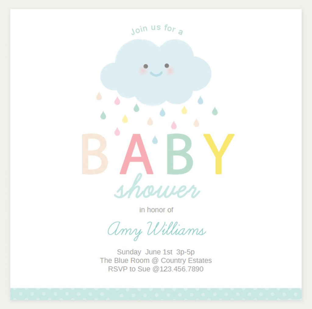 Inspirational 19 Sets Of Free Baby Shower Invitations You Can Print inside Baby Shower Templates Free