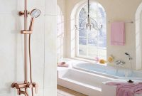 Inspirational 2018 Dofaso Luxury Rose Gold Copper Shower Faucet Bathroom Antique intended for Gold Faucet Bathroom