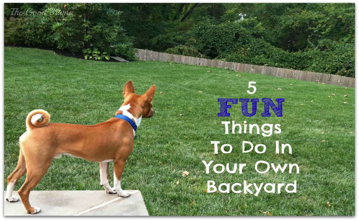 Inspirational 5 Fun Things To Do In Your Own Backyard - The Good Mama intended for Best of Fun Things To Do In Your Backyard