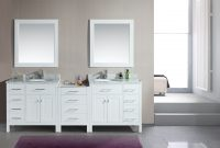 Inspirational Adorna 92 Inch Transitional Double Sink Bathroom Vanity White Finish regarding Bathroom Double Sink Cabinets