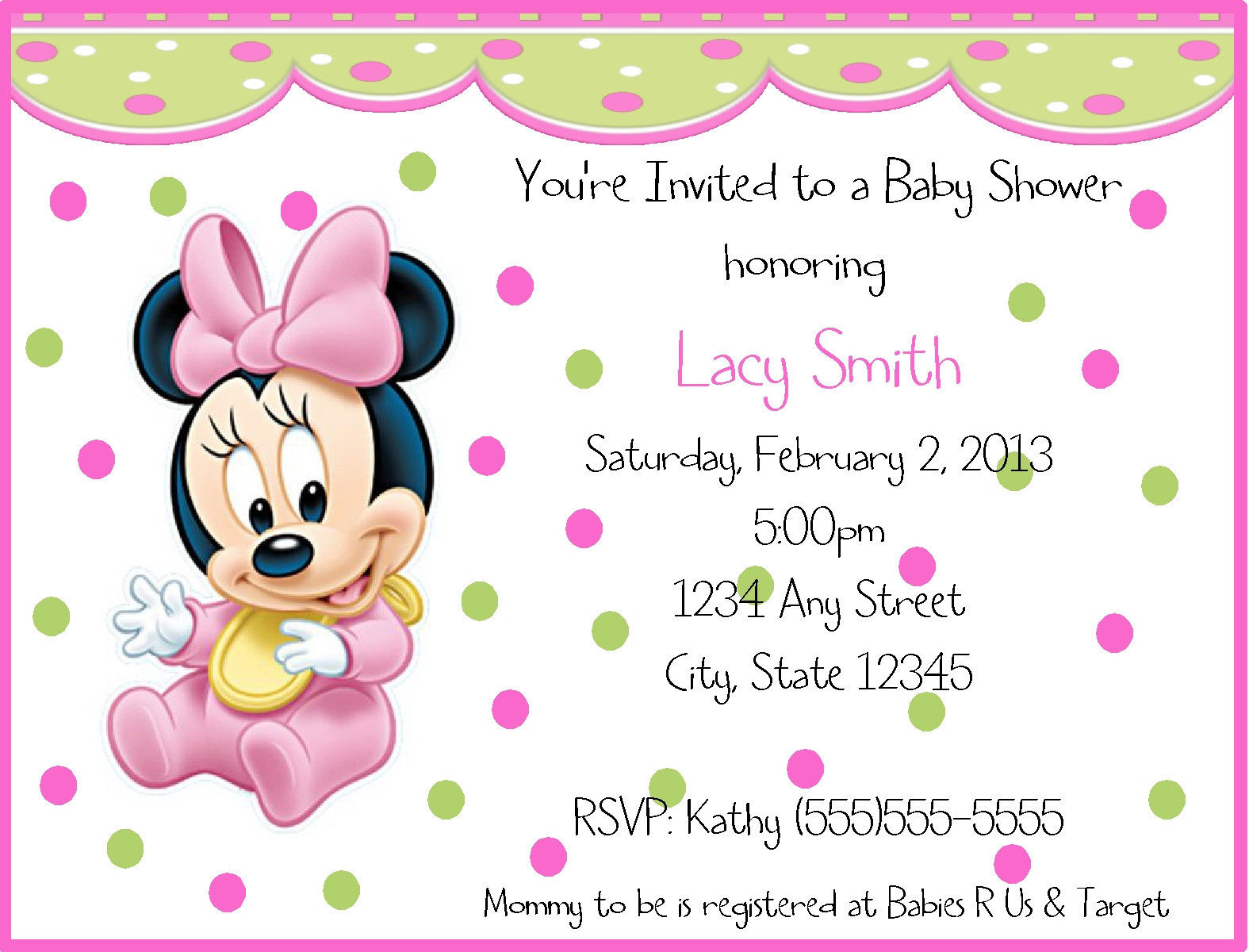 Inspirational Baby Shower Invitations Interesting Free Printable Minnie Mouse Baby for Minnie Mouse Baby Shower Invitations