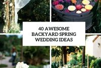 Inspirational Backyard Wedding Ideas Backyard Wedding Ideas Budget Cheap Backyard throughout Fresh How To Plan A Backyard Wedding