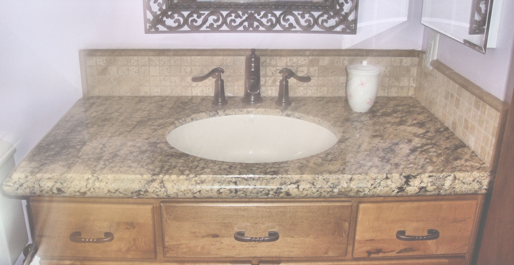 Inspirational Bathroom Black Granite Bathroom Vanity Countertops For Round White intended for Bathroom Vanity Countertops