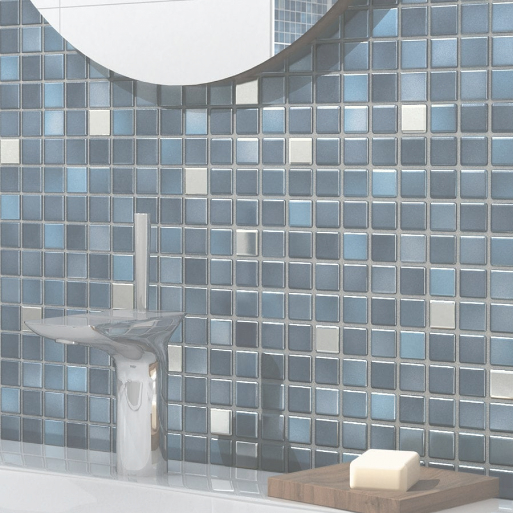 Inspirational Bathroom Mosaic Tile / Wall / Floor / Porcelain Stoneware - Fresh intended for Blue Bathroom Mosaic Tiles
