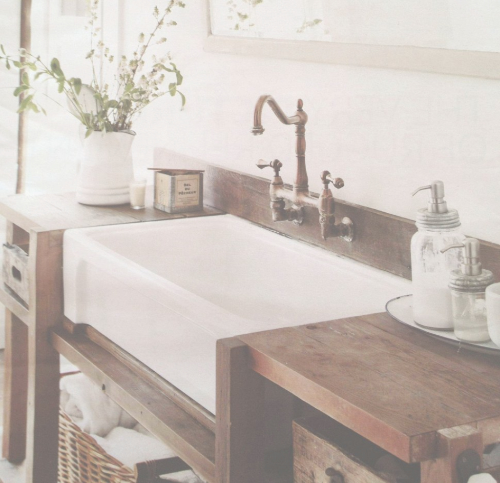 Inspirational Bathroom Sink : Farmhouse Sink Bathroom Vanity Double Apron Sink pertaining to Apron Sink Bathroom Vanity