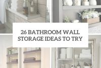 Inspirational Bathroom Storage Ideas Archives – Shelterness for High Quality Bathroom Storage Cabinet Ideas