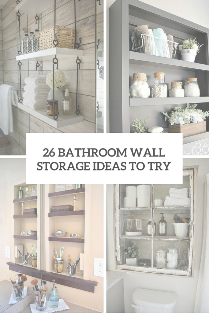 Inspirational Bathroom Storage Ideas Archives - Shelterness for High Quality Bathroom Storage Cabinet Ideas