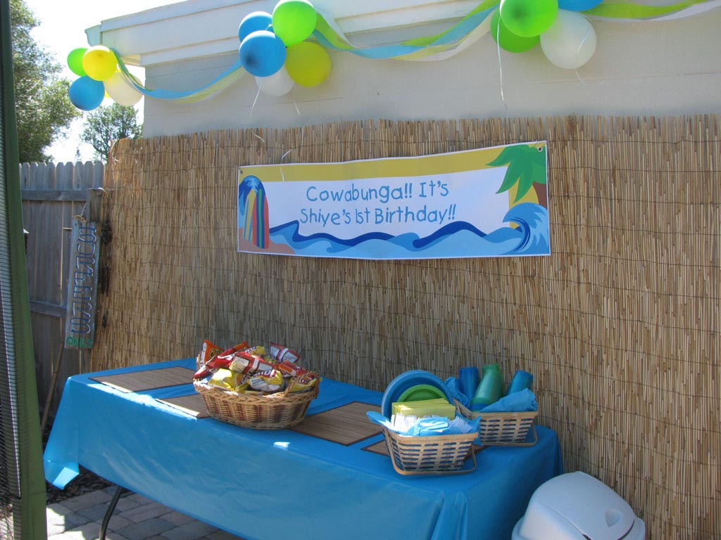 Inspirational Beach Themed 1St Birthday Party | Home Party Ideas inside Fresh Beach Theme Party Decorations
