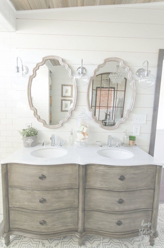 Inspirational Beautiful Urban Farmhouse Master Bathroom Remodel | Pinterest within Unique Beautiful Bathroom Mirrors