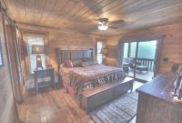 Inspirational Bedroom Photo Tour | Above The Clouds Cabin, Blue Ridge, Ga | for Cabin Bedroom