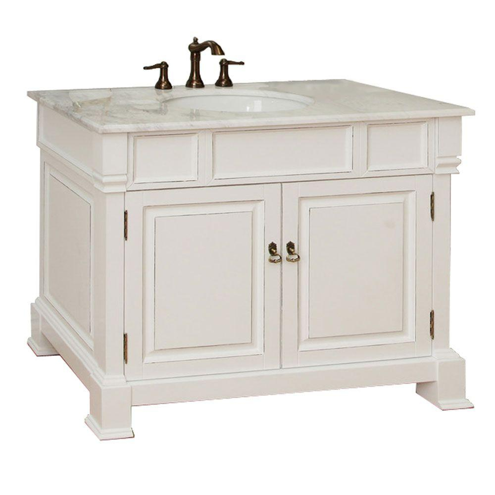 Inspirational Bellaterra Home Olivia 42 In. W X 35-1/2 In. H Single Vanity In for Elegant 42 Bathroom Vanity Cabinets