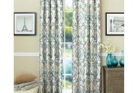 Inspirational Better Homes And Gardens Ikat Scroll Curtain Panel – Walmart with Awesome Walmart Living Room Curtains