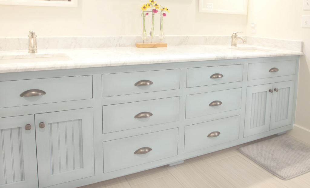 Inspirational Blue Painted Master Bathroom Vanity Cabinet - Woodwright's Custom with Custom Bathroom Vanity Cabinets