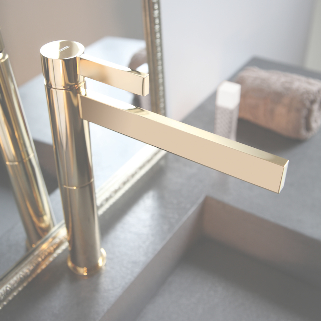 Inspirational Brushed Gold Bathroom Faucet Popular Polished Waterfall With Regard throughout Antique Gold Bathroom Faucets