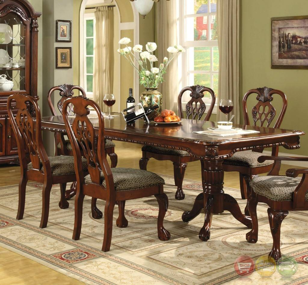 Inspirational Brussels Formal Dining Room 7 Piece Furniture Set Traditional Dark within The Dining Rooms Norwich
