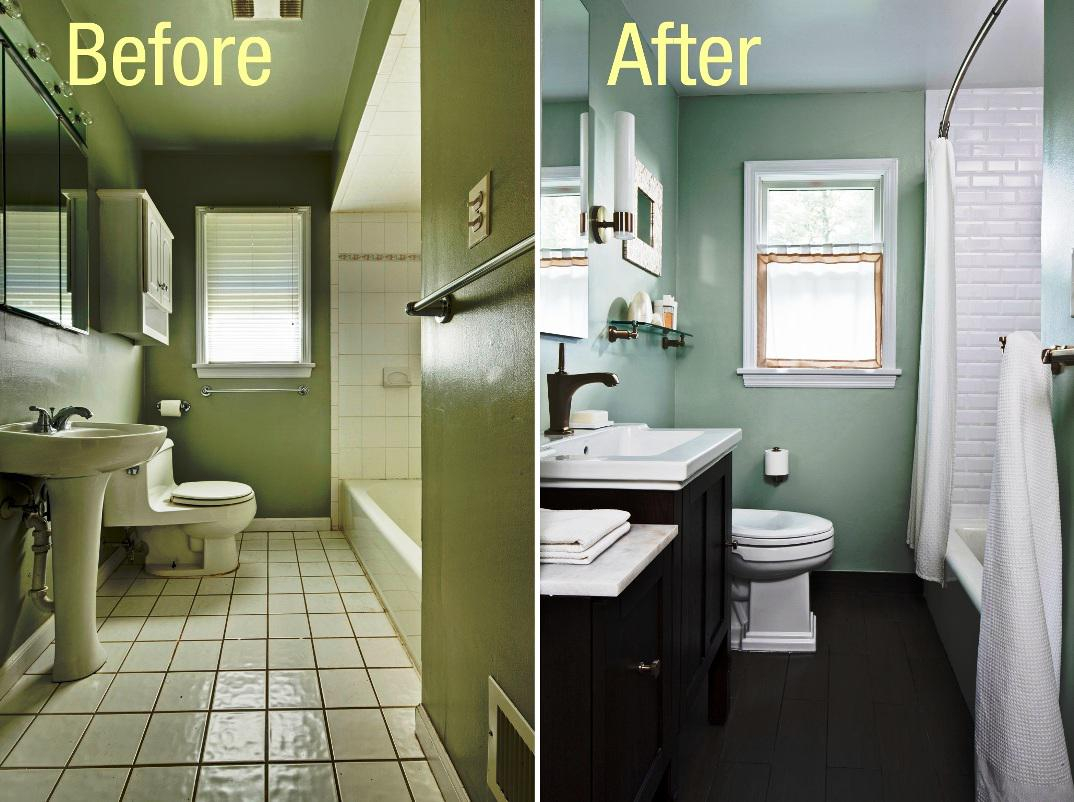 Inspirational Cheapest Bathroom Remodel Before After : Home Reviews - The Cheapest throughout Inexpensive Bathroom Remodel