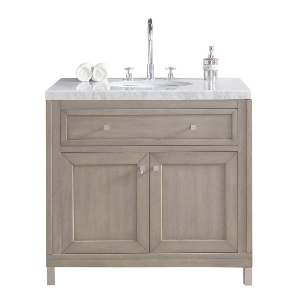 Inspirational Chicago 36 In. W Single Vanity In Whitewashed Walnut With Marble with Awesome 36 Inch Bathroom Vanity With Top