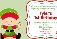 Inspirational Christmas Baby Shower Invitations First Birthday Christmas Party for Christmas Baby Shower