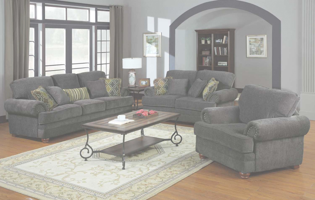 Inspirational Coaster Colton Living Room Set - Smokey Grey 504401-Livset At pertaining to Grey Living Room Sets