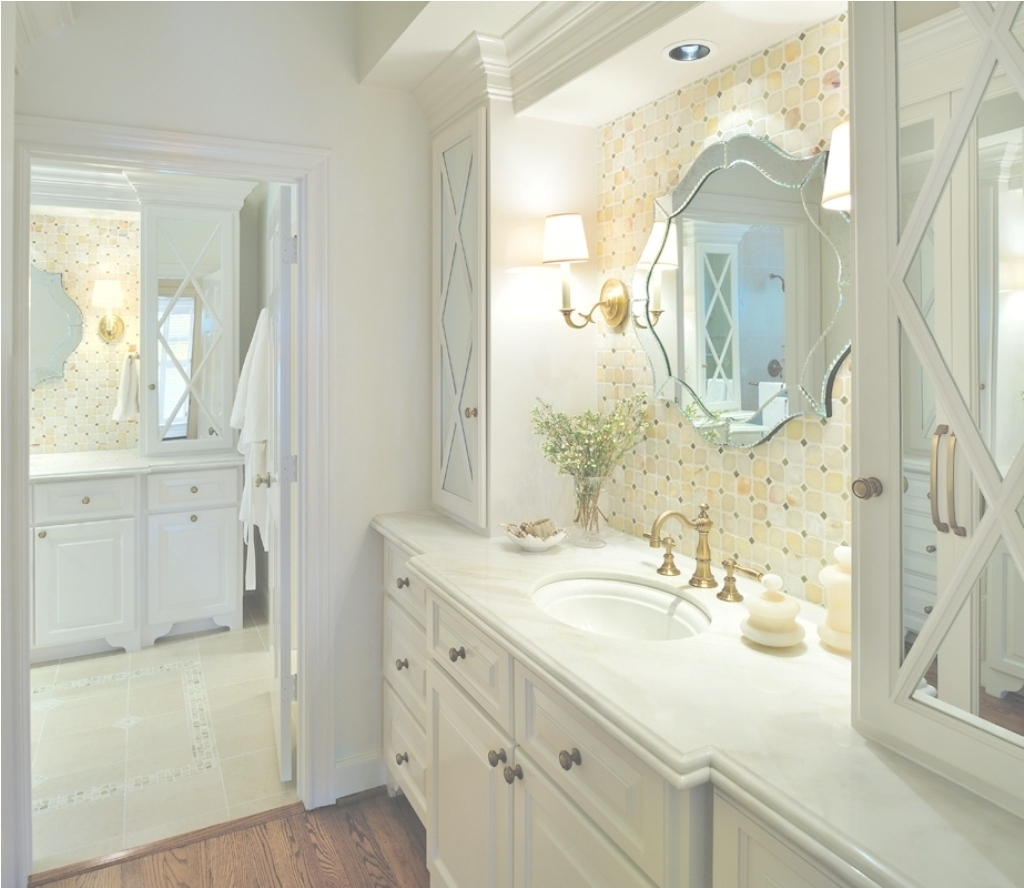 Inspirational Creative Large Bathroom Mirror With Classic White Vanity Using regarding Gold Bathroom Mirror