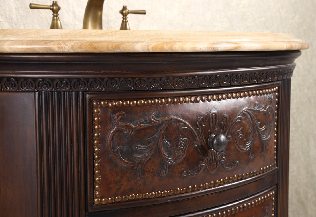 Inspirational Decorative Vanity Cabinet Crestwood 36 Inch Marble Top intended for Best of Furniture Style Bathroom Vanities