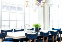Inspirational Dining Room : Blue Dining Chairs Chair Covers Navy Set Teal for Review Light Blue Dining Room
