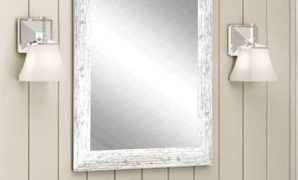 Inspirational Distressed Decorative Rectangle White Wall Mirror-Av32Small - The intended for Fresh Distressed Bathroom Mirror